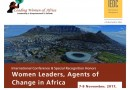 WOMEN AGENTS OF CHANGE, TOWARDS THE AGENDA 2063, Cape Town 7-8 November 2017